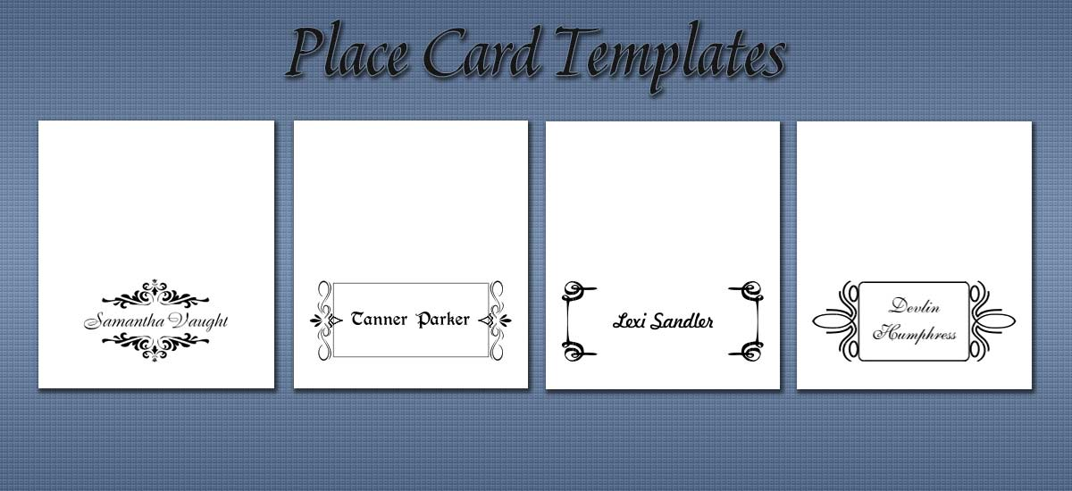 Free Place Card Templates